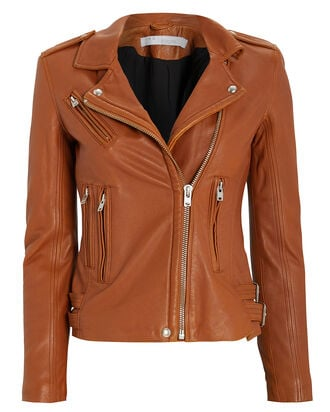 Han Leather Moto Jacket, COGNAC, hi-res