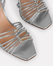 Daisy Strappy Leather Sandals, SILVER, hi-res