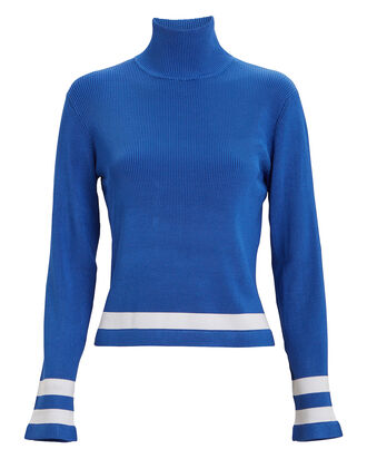 Petrice Striped Turtleneck, ELECTRIC BLUE, hi-res