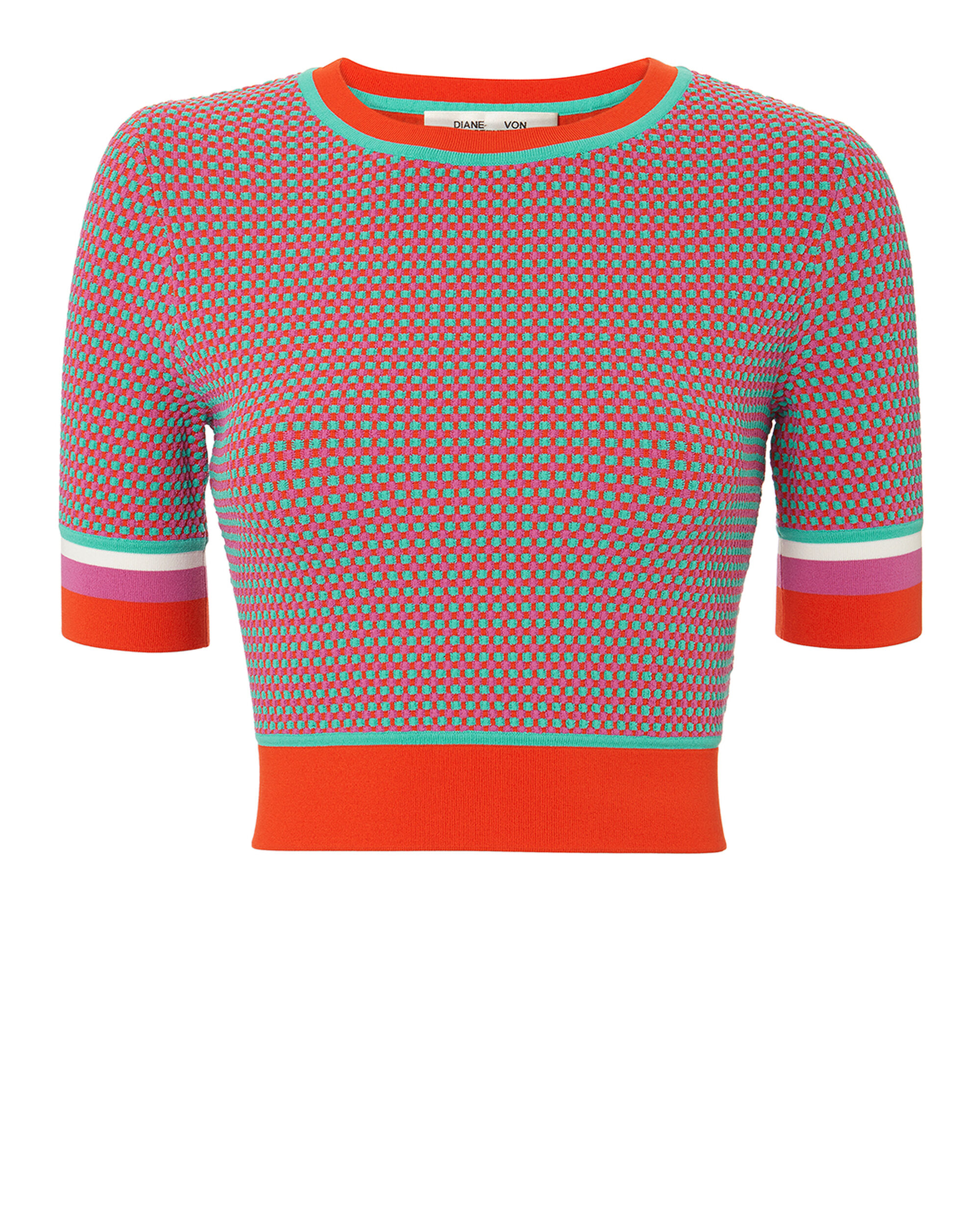 Jacquard Cropped Sweater, MULTI, hi-res