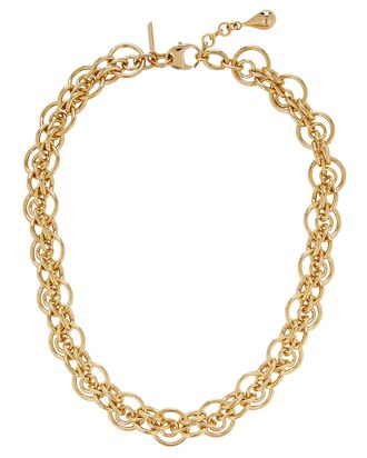 Cirque Open Chain-Link Necklace, GOLD, hi-res