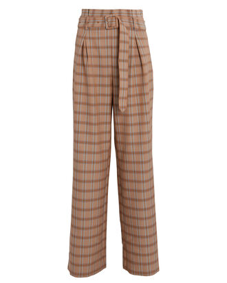 Jin Plaid Wide-Leg Pants, MULTI, hi-res