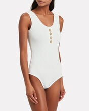 Strappy Diamond Knit Bodysuit, WHITE, hi-res