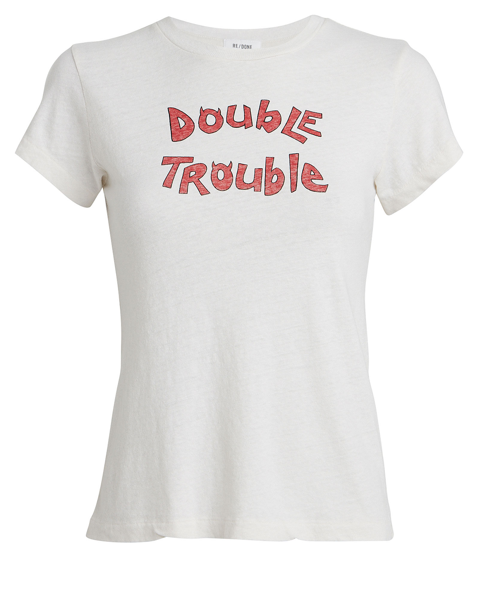 Double Trouble Cotton T-Shirt, WHITE, hi-res