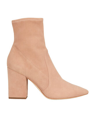 Isla Suede Booties, BLUSH, hi-res