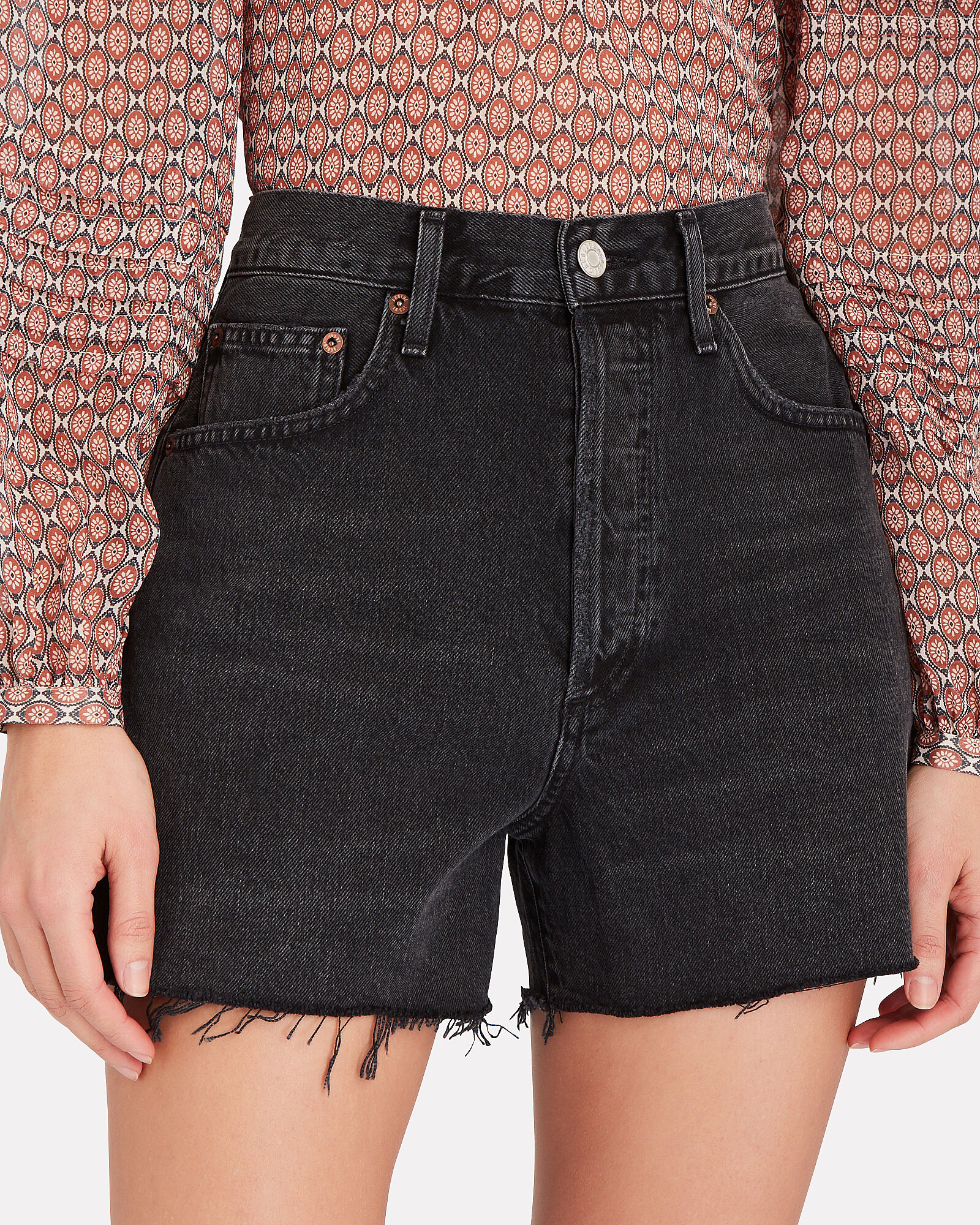 Dee High-Rise Denim Shorts, Exhibit, hi-res