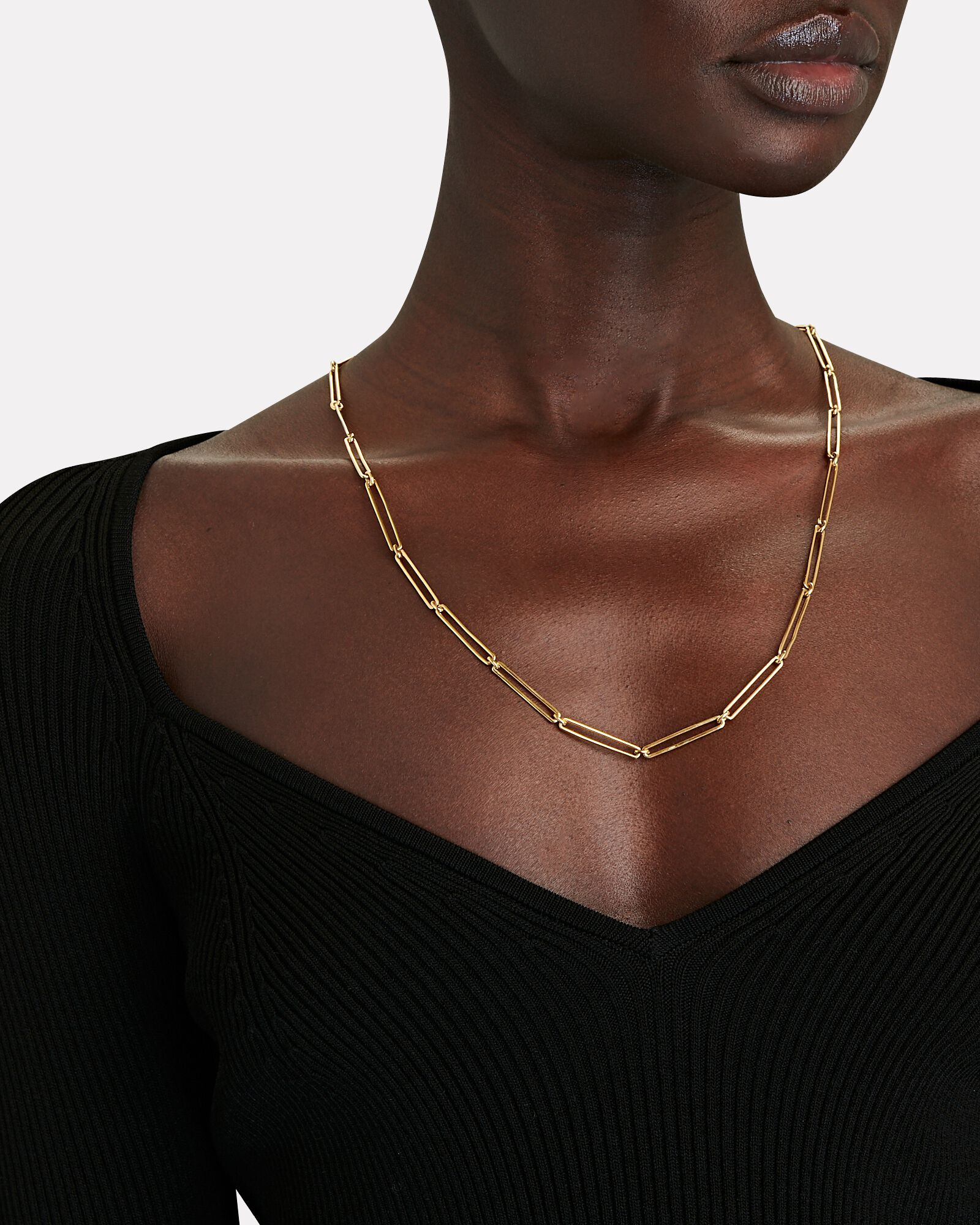 Vermouth Chain-Link Necklace, GOLD, hi-res