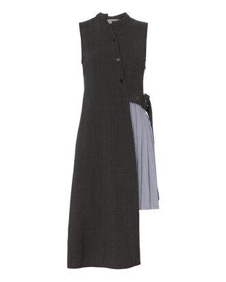 Phantom Half-Pleated Dress, GREY, hi-res