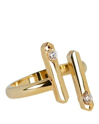 Ani Open Bar Ring, GOLD, hi-res