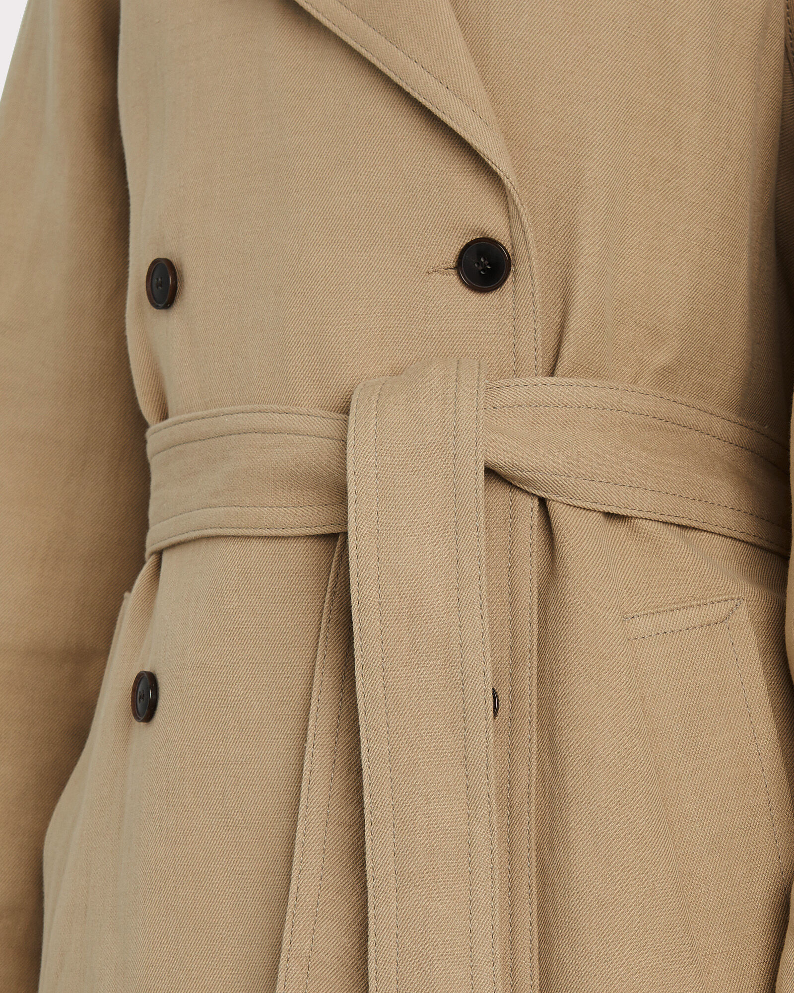 Magda Double-Breasted Trench Coat, BEIGE, hi-res