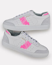 Dunk Scribble Leather Sneakers, WHITE/PINK, hi-res