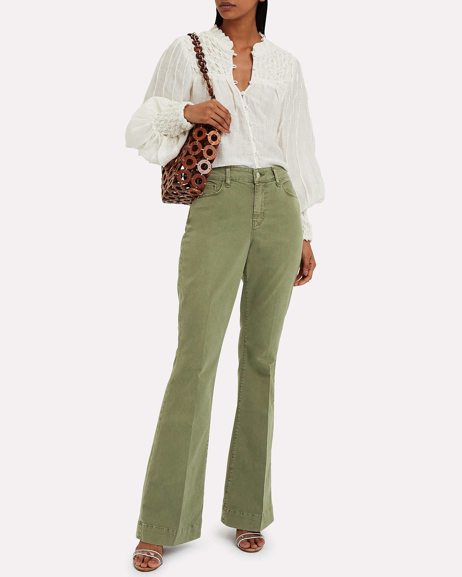 The Affair Flared Jeans, GREEN, hi-res
