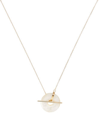 Torus Toggle Necklace, GOLD, hi-res