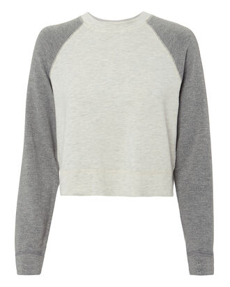 Two-Tone Sweatshirt, GREY, hi-res