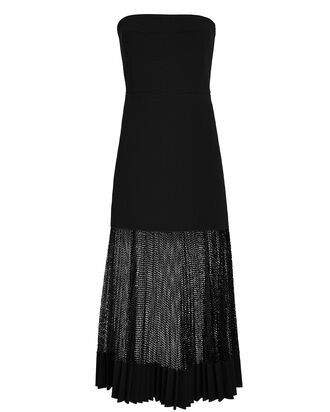 Bonded Crepe Bustier Dress, BLACK, hi-res