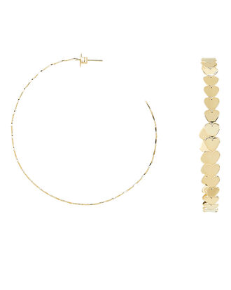 Dream Hoop Earrings, YELLOW GOLD, hi-res