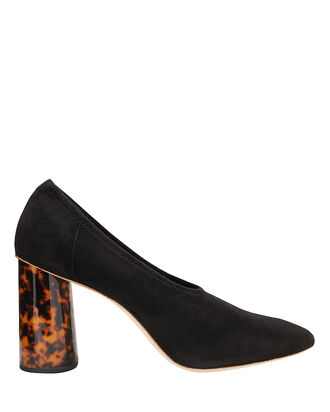 Elyn Tortoise Resin Heel Pumps, BLACK, hi-res