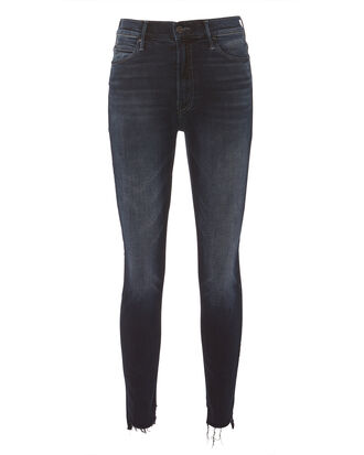 Stunner Zip Two Step Fray Jeans, DARK BLUE DENIM, hi-res