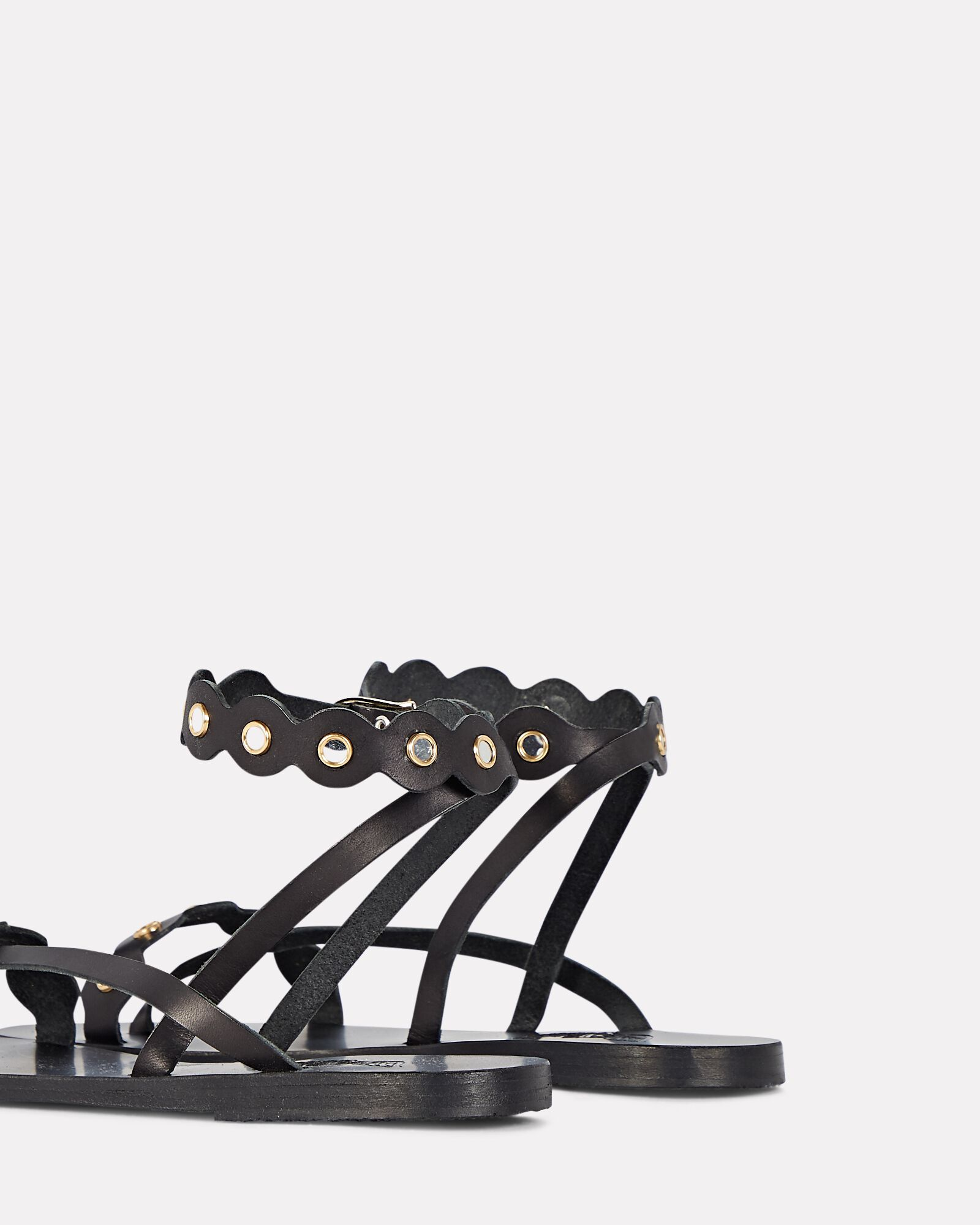 Opsi Mirrors Leather Sandals, BLACK, hi-res