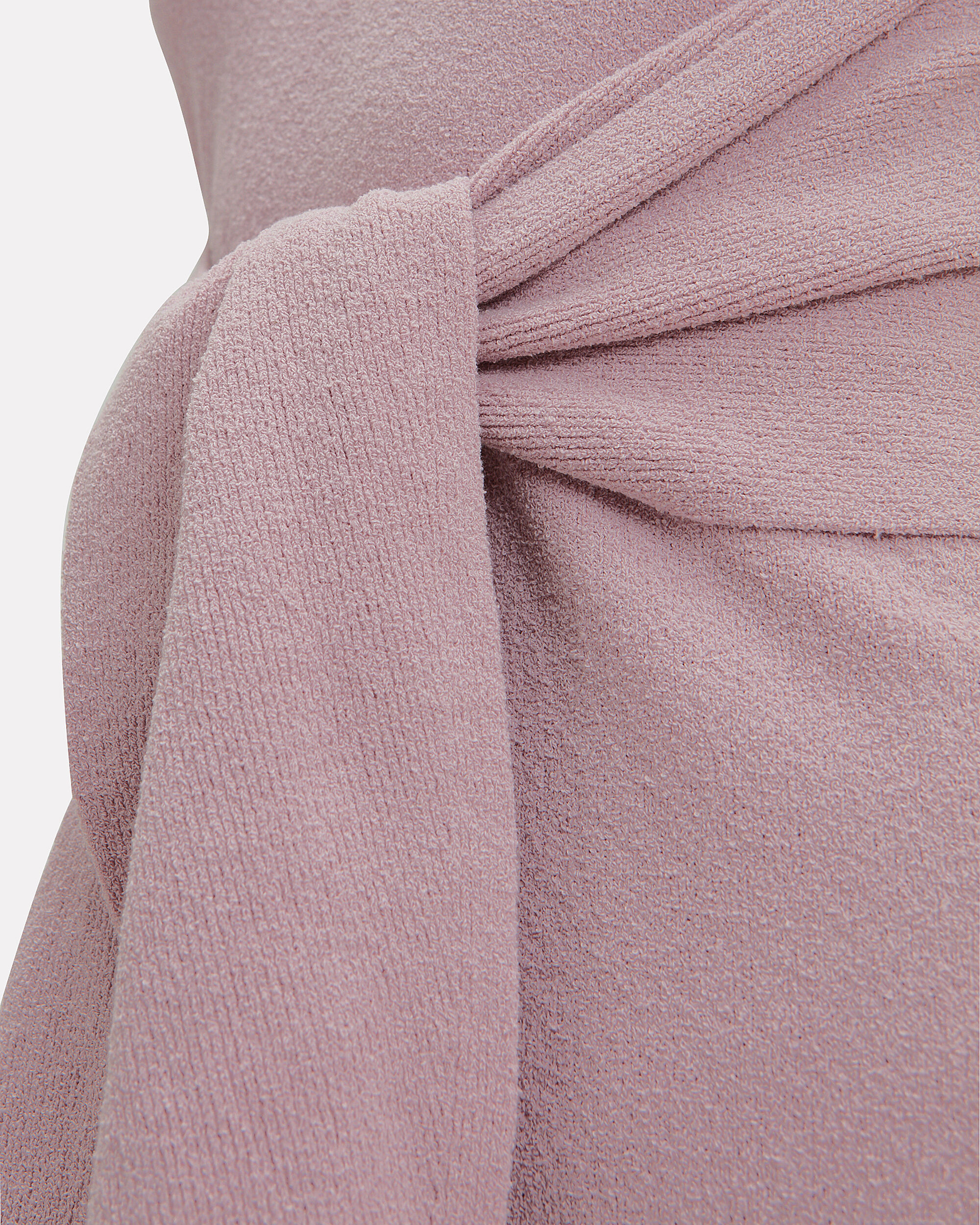 Mame Terry Knit Tie Waist Dress, LILAC, hi-res