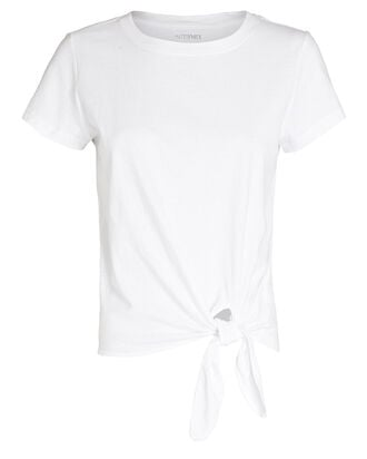 Holly Tie-Hem T-Shirt, WHITE, hi-res