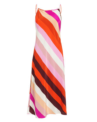 Lea Silk Slip Dress, PINK/STRIPES, hi-res