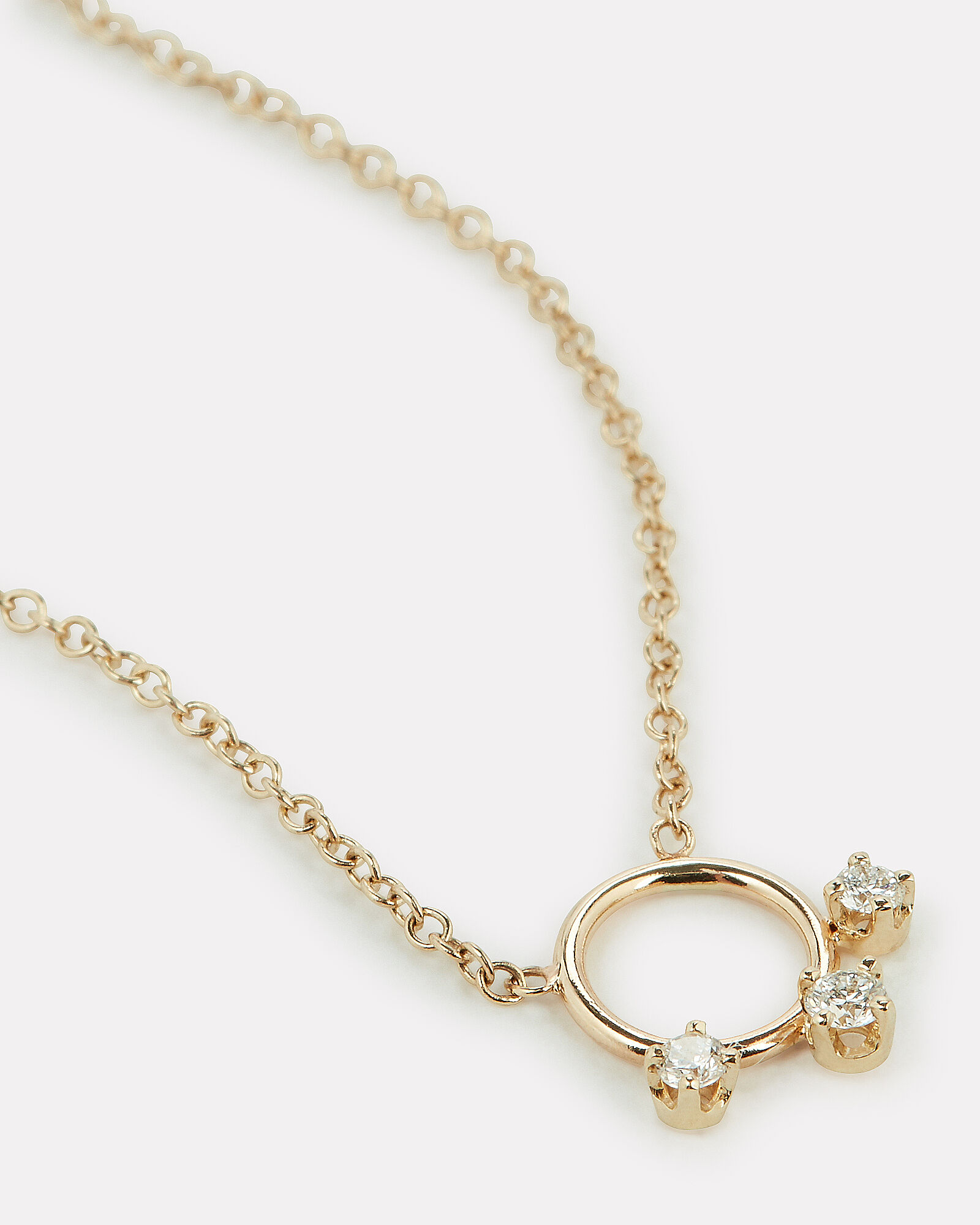 Gold Diamond Ring Pendant Necklace, GOLD, hi-res