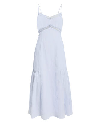 Marina Cotton Lace Dress, PERIWINKLE, hi-res