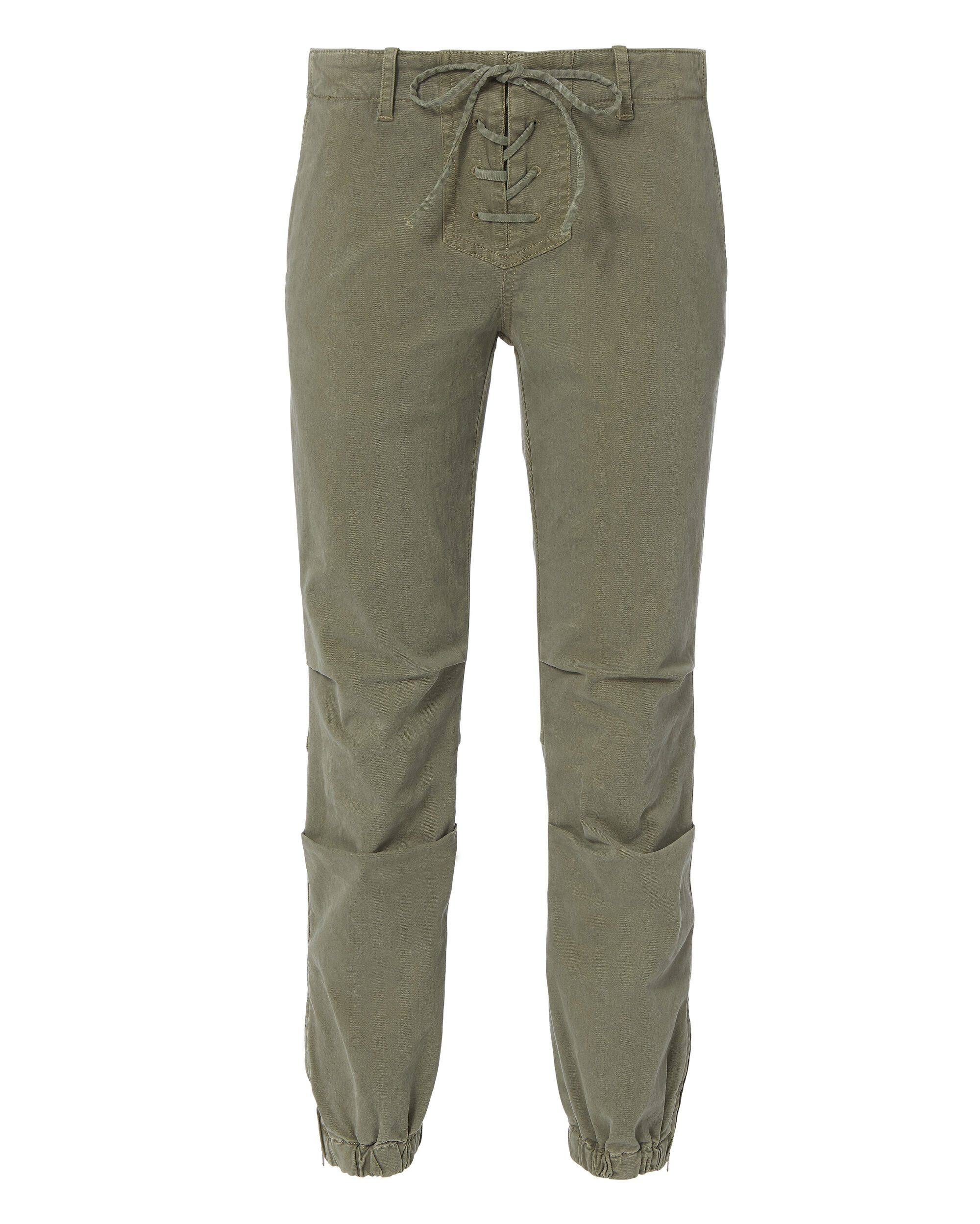 Lace-Up Crop Military Pants, OLIVE/ARMY, hi-res