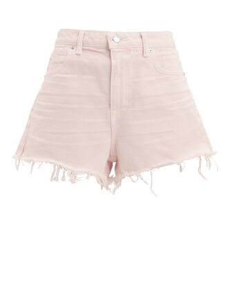 Bite Pink Frayed Shorts, LIGHT PINK, hi-res