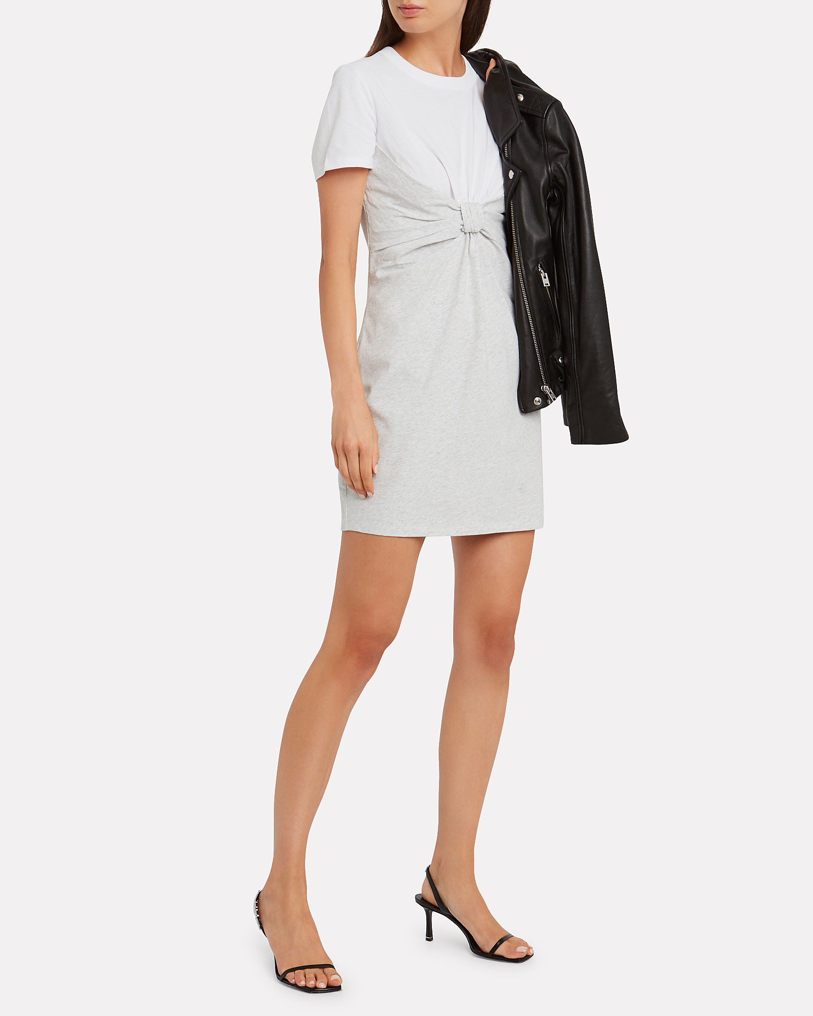 High Twist Combo T-Shirt Dress, GREY-LT, hi-res