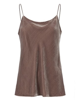 Velvet Cami, BROWN, hi-res