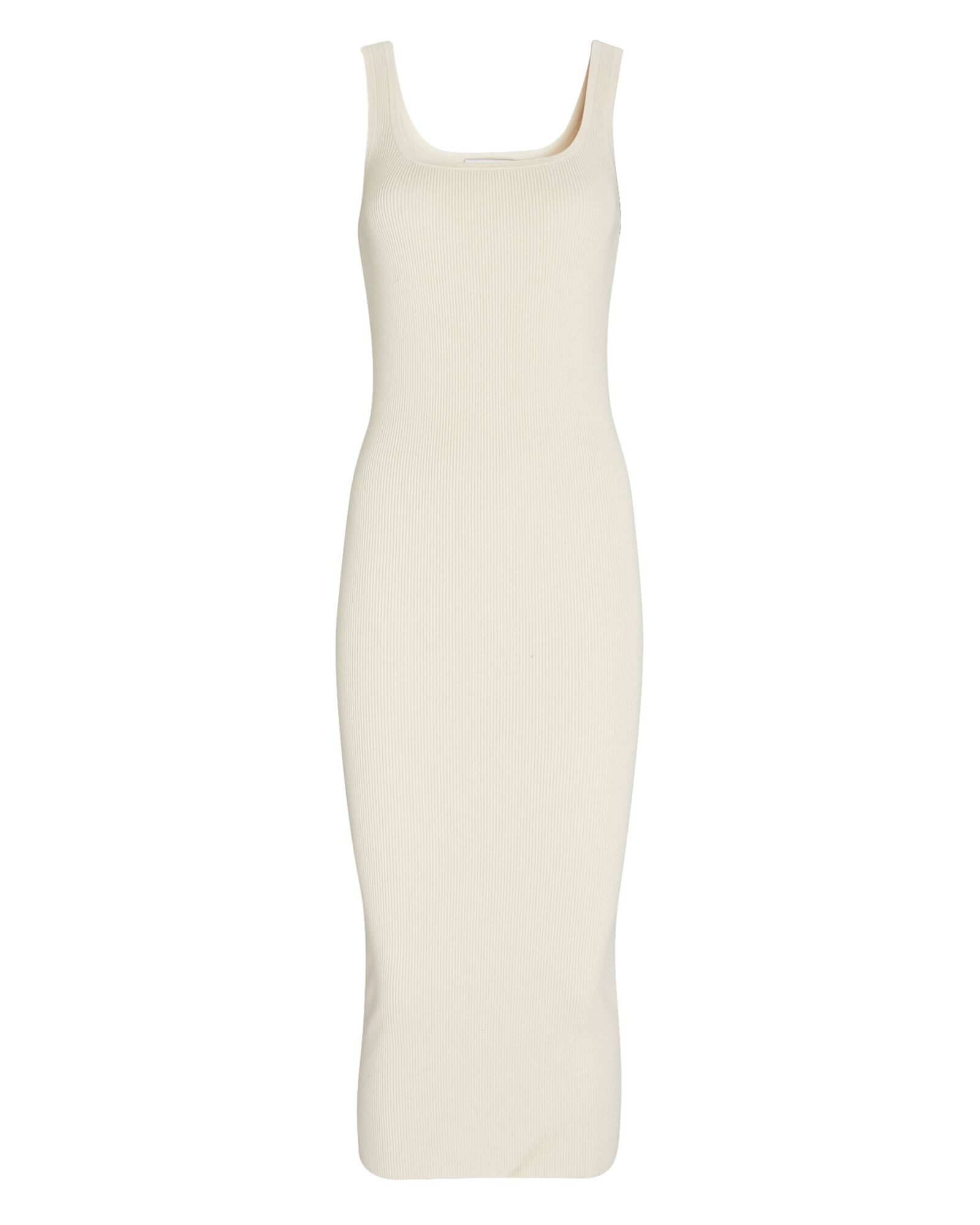 Harlow Rib Knit Tank Dress, IVORY, hi-res