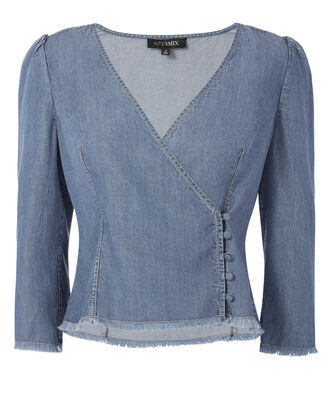 Charlotte Chambray Top, DENIM, hi-res