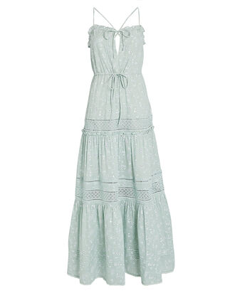 Kava Cotton Eyelet Maxi Dress, SEAFOAM, hi-res