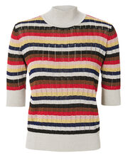 Lurex Multi-Striped Top, MULTI, hi-res