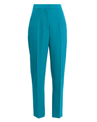 Pleat Front Trousers, TEAL BLUE, hi-res