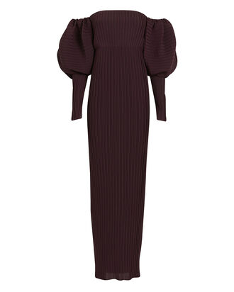 Tasmin Off-the-Shoulder Gown, AUBERGINE, hi-res