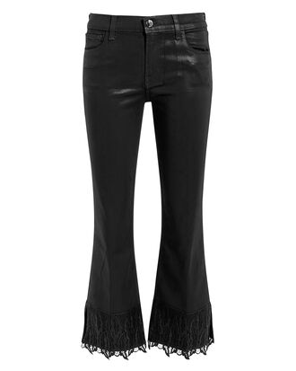 Selena Coated Lace Crop Boot Jeans, BLACK, hi-res
