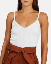Vaughn Sleeveless Knit Top, IVORY, hi-res