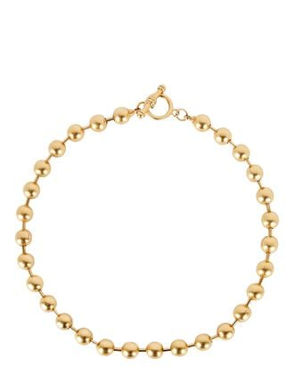Ball And Chain Necklace, GOLD, hi-res
