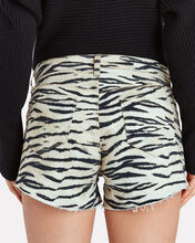 Audrey Tiger Cut-Off Denim Shorts, MULTI, hi-res
