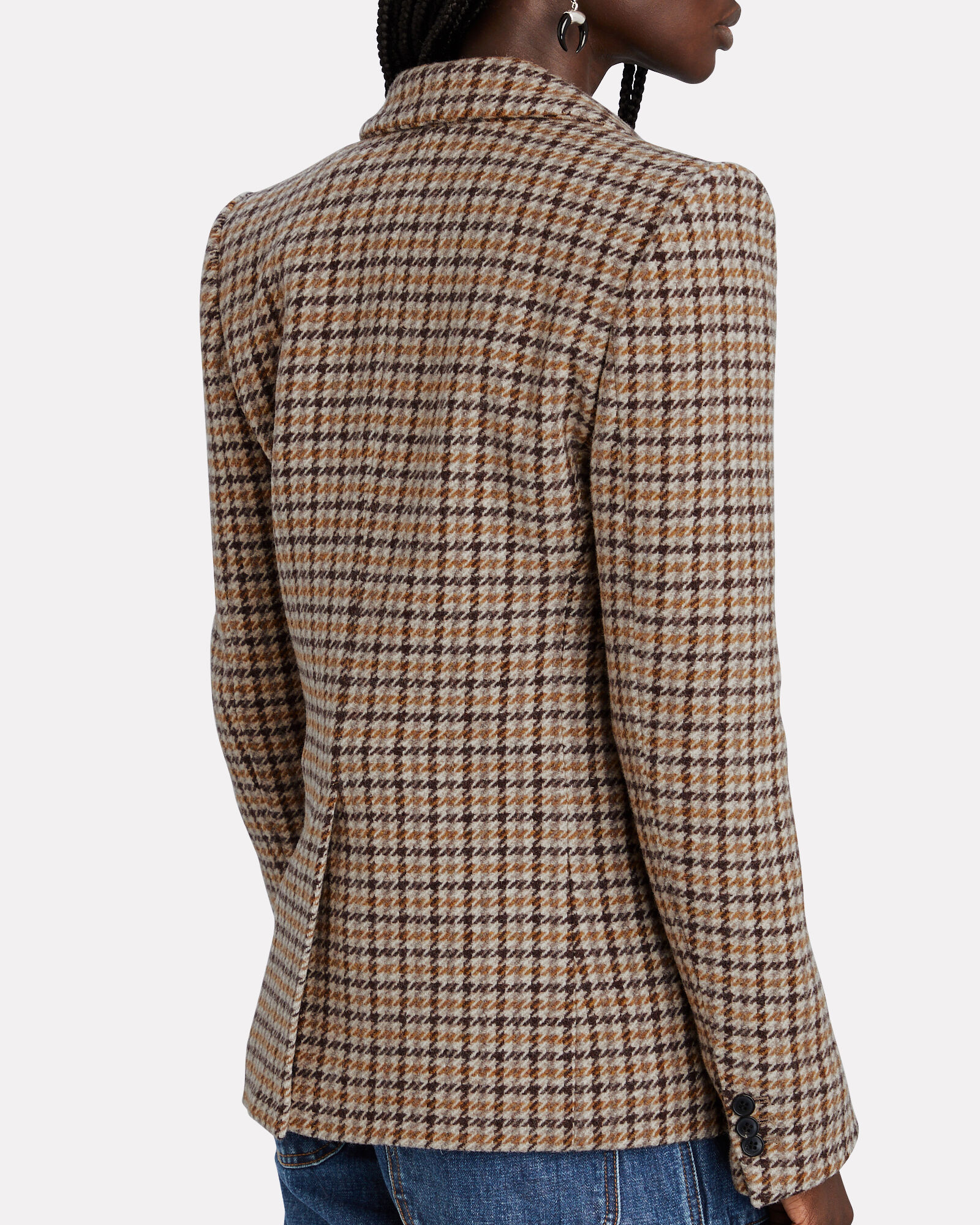 Kerstin Virgin Wool Houndstooth Blazer, , hi-res