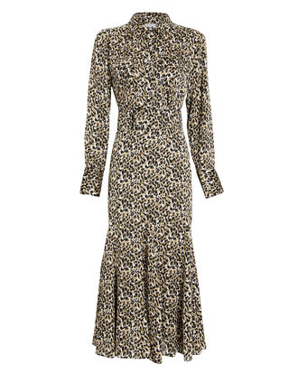 Lenora Leopard Shirt Dress, BROWN/LEOPARD, hi-res