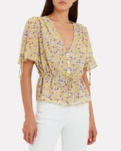 Arlo Floral Blouse, YELLOW/FLORAL, hi-res