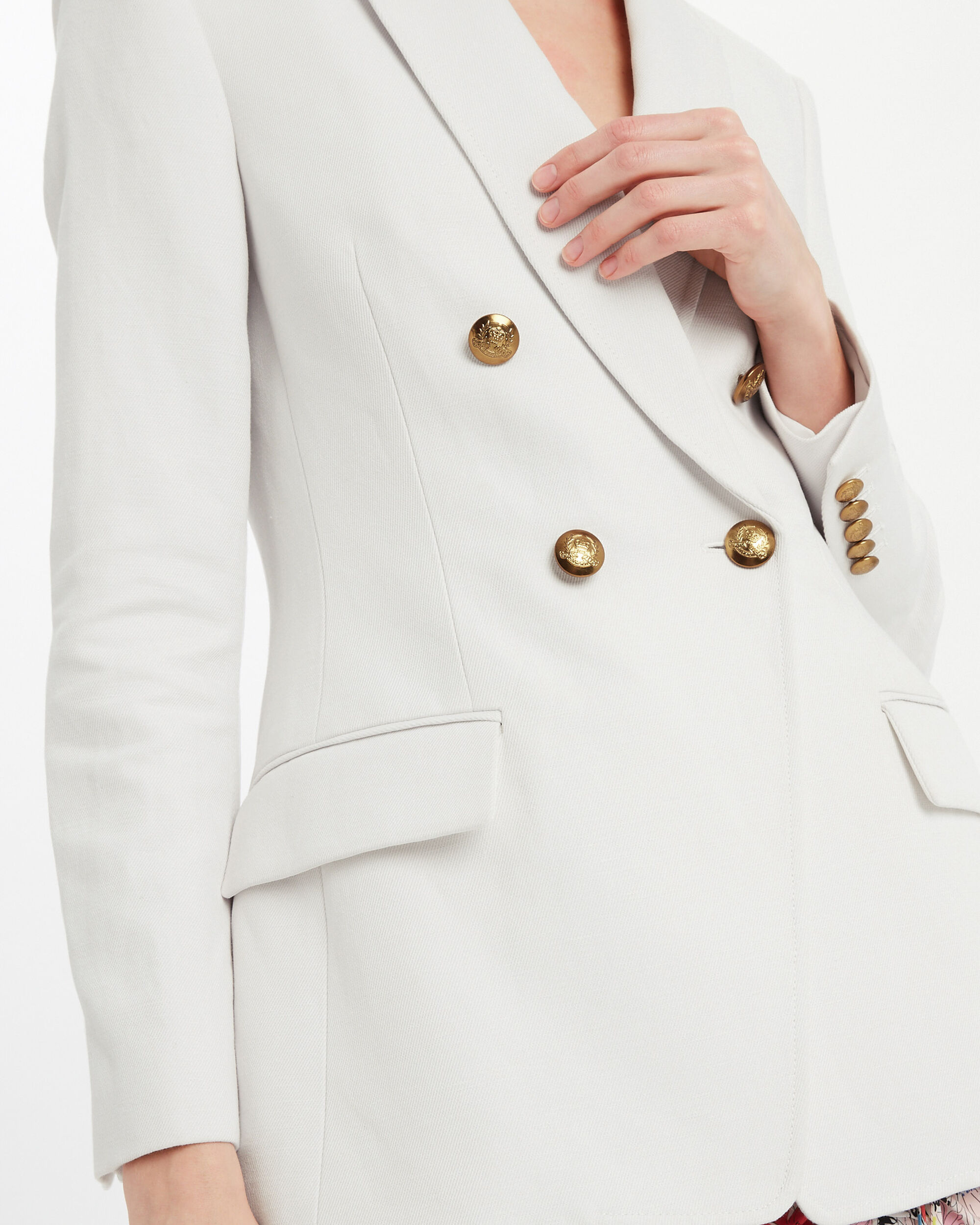 Sedgwick Double Breasted Blazer, WHITE, hi-res