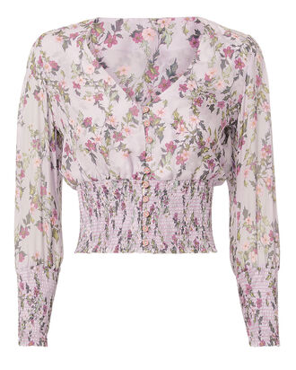 Elin Floral Top, PURPLE-LT, hi-res