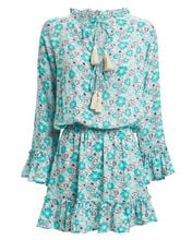 Monica Mini Floral Dress, BLUE-LT, hi-res