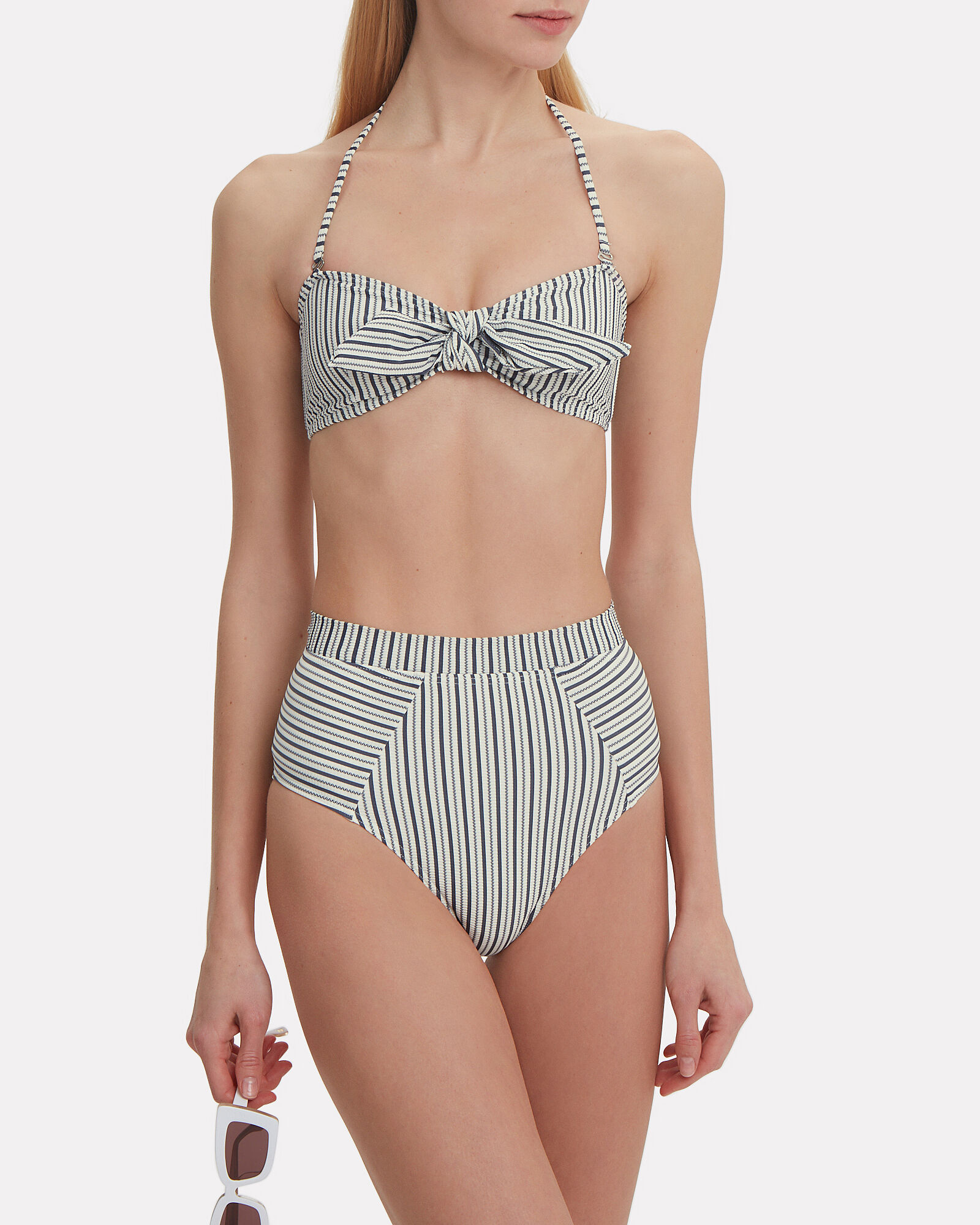 Knotted Stripe Bikini Top, MULTI, hi-res