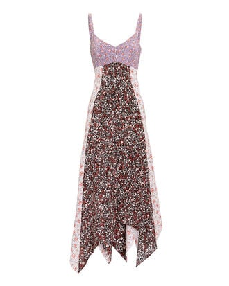 Isla Floral-Printed Midi Dress, MULTI, hi-res